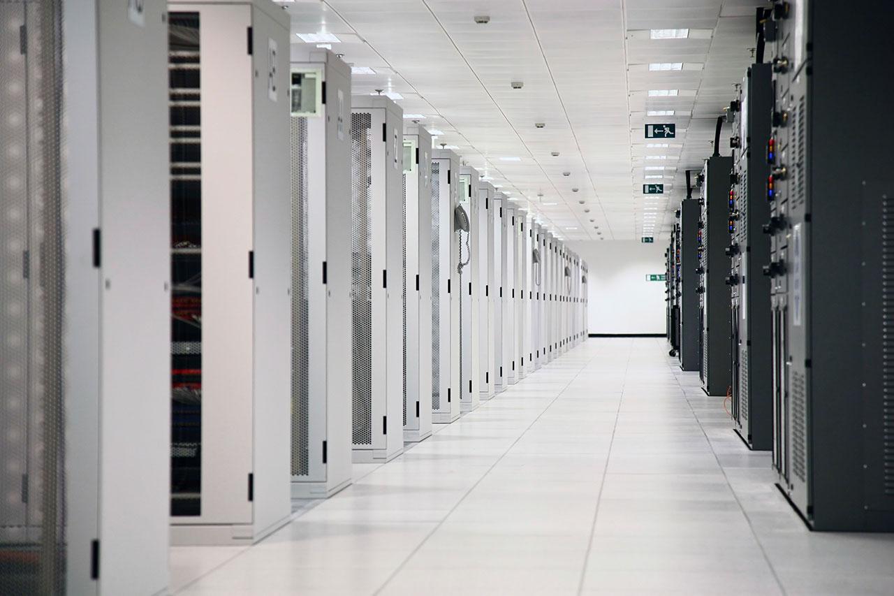 Secure cloud based computer server room